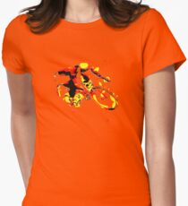 hip bicycle Womens Fitted T-Shirt