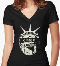 Liberty City Women's Fitted V-Neck T-Shirt