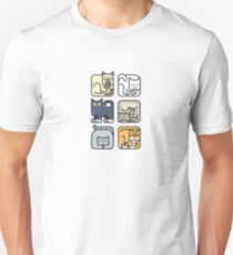 Cute Cat Icon Pattern T-Shirt