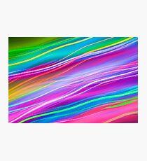 Neon waves Photographic Print