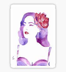 Purple Watercolour Dita Von Teese Sticker
