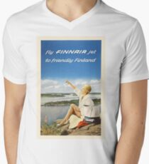 Fly FINNAIR jet to friendly Finland T-Shirt