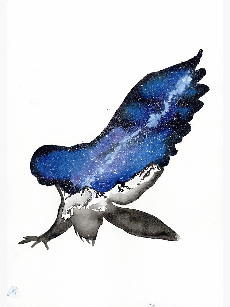 Midnight Galaxy Owl by creaturesofnat