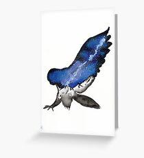 Midnight Galaxy Owl Greeting Card