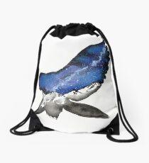 Midnight Galaxy Owl Drawstring Bag