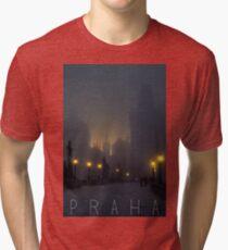 Prague, Czech Republic, Charles Bridge Tri-blend T-Shirt