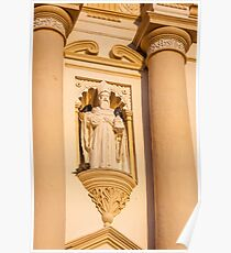 Architectural detail at Saint James Cathedral Poster