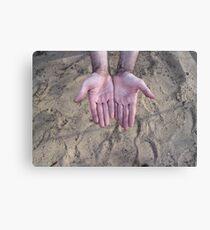 worker hands palms Canvas Print