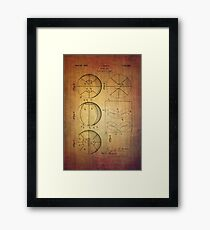 Basket Ball Patent From 1929 Framed Print