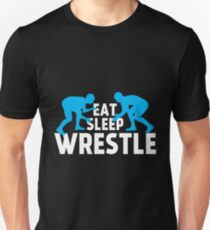 Eat Sleep Wrestle Shirt Unisex T-Shirt