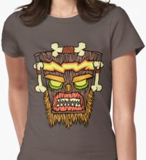 Warped Mask Womens Fitted T-Shirt