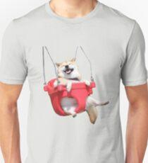 Corgi On A Swing Unisex T-Shirt