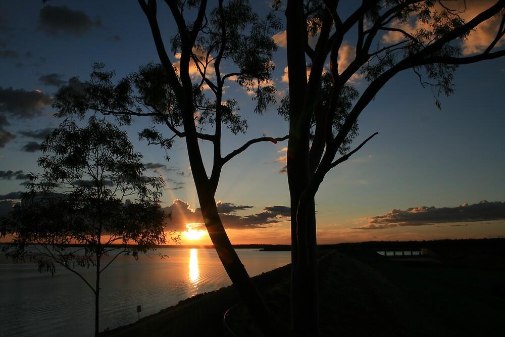 Sunset Over the Dam by JudyMac