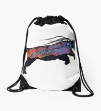 Sunset Aurora Puma Drawstring Bag