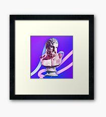 Neon bust Framed Print