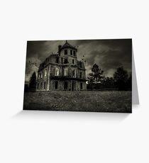 Psycho Bates house Greeting Card