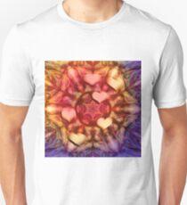 Hot hearts on volcanic kaleidoscope Unisex T-Shirt
