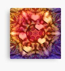 Hot hearts on volcanic kaleidoscope Canvas Print