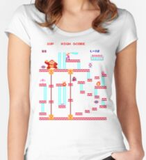 Donkey Kong Elevator Stage Women's Fitted Scoop T-Shirt