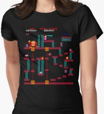 Donkey Kong Elevator Stage Womens Fitted T-Shirt