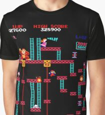 Donkey Kong Elevator Stage Graphic T-Shirt