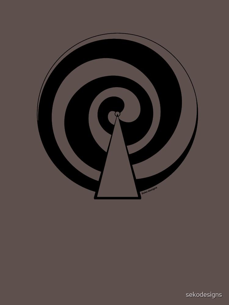 Mandala 9 Back In Black by sekodesigns