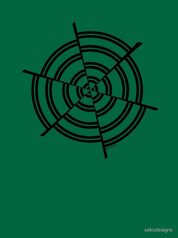 Mandala 2 Back In Black by sekodesigns