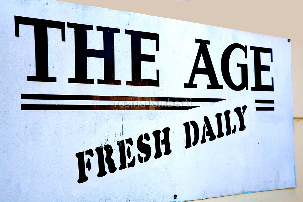 The Age = Fresh Daily by Rosina  Lamberti
