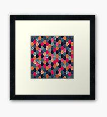 Colorful Honeycomb Framed Print