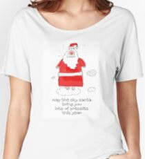 Santa in the sky Women's Relaxed Fit T-Shirt