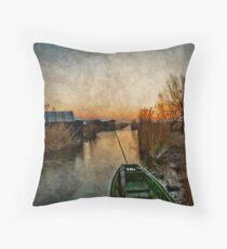 Morning at the lake Throw Pillow