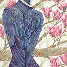 Peregrine Amongst the Magnolias by Jezhawk