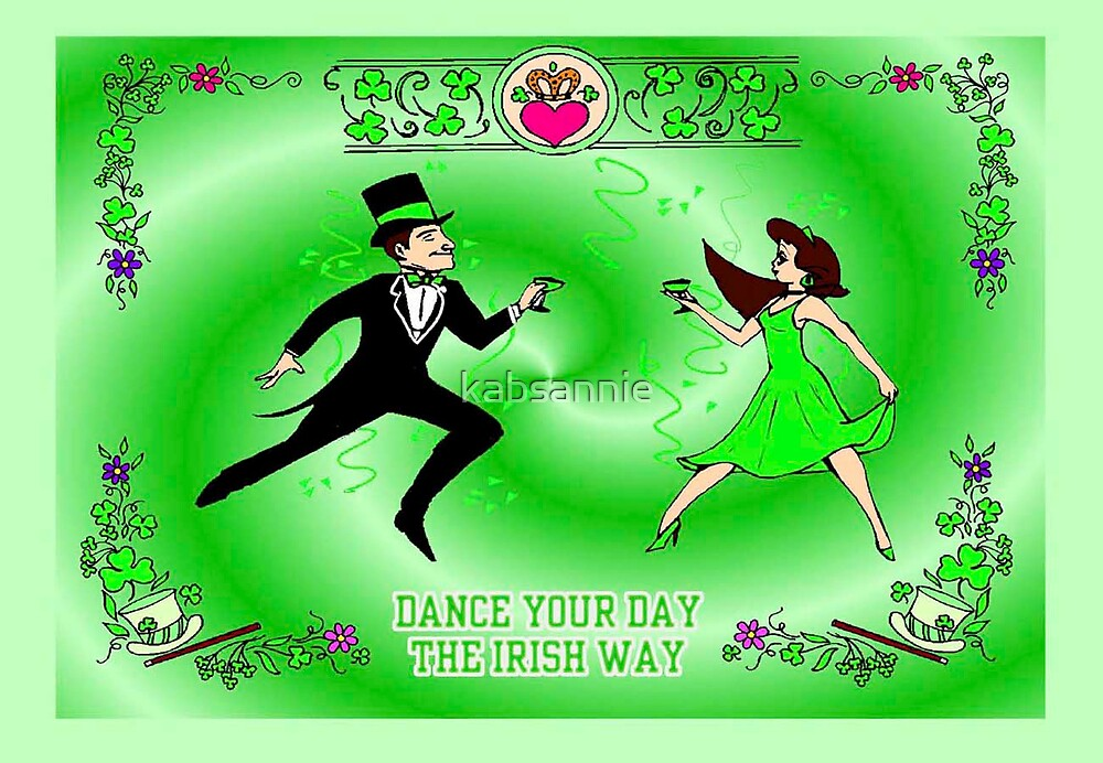 Man and Woman Irish dancing by kabsannie