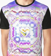 Amazing Heart Flake Graphic T-Shirt