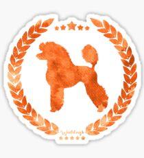 Poodle Camo Orange Sticker