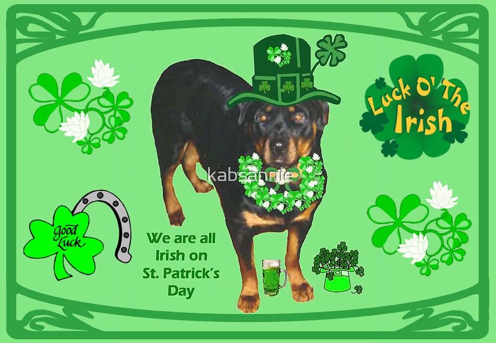 Rottweiler Irish Wishes by kabsannie