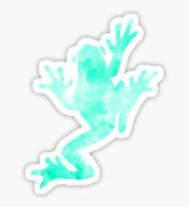Frog Watercolor Sticker