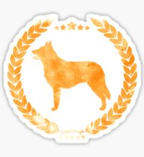 Belgian Shepherd Laekenois Camo Gold Sticker