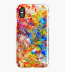 abstract contemporary colors No 8 iPhone Case/Skin