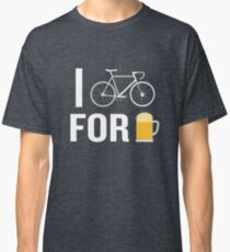I Bike For Beer Funny Biker Bicycle Cycling Lover Classic T-Shirt