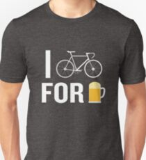 I Bike For Beer Funny Biker Bicycle Cycling Lover Unisex T-Shirt
