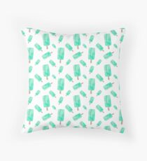 popsicles all day every day  Throw Pillow
