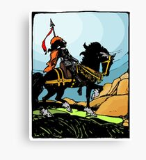 Mounted Knight Canvas Print