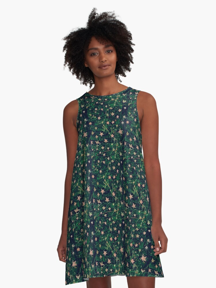 Stars 6 A-Line Dress Front