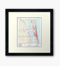 USGS TOPO Map Florida FL Jacksonville Beach 346824 1964 24000 Framed Print