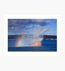 Fire Water Rainbow Art Print