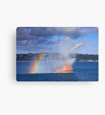 Fire Water Rainbow Metal Print