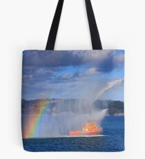 Fire Water Rainbow Tote Bag