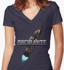 The Rocinante - Colored Version Women's Fitted V-Neck T-Shirt