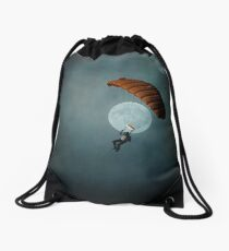 Skydiver's Moon Drawstring Bag